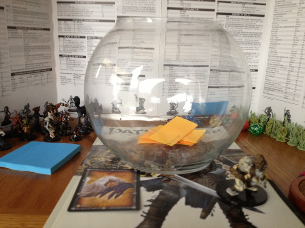 Dungeon and Dragons fish bowl