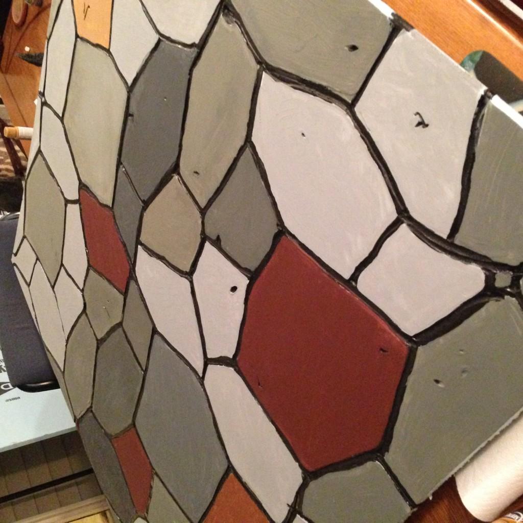 painted foam insulation board